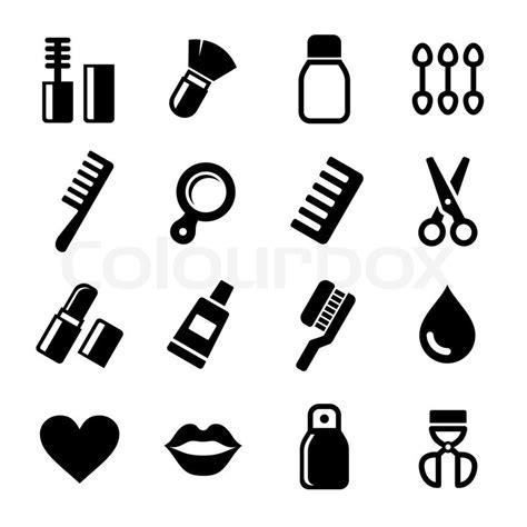 cosmetics perfume icons set stock vector colourbox