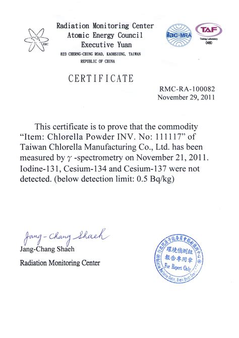 Chlorella For Radiation Detox by Chlorella Radiation Reports