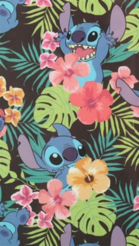hawaiian pattern iphone wallpaper fondo de pantalla we heart it wallpaper disney and