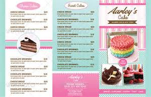 cake flyer template free bakery menu templates 28 free word psd pdf eps