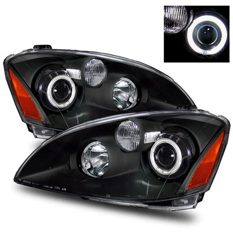 nissan altima headlights 02 04 nissan altima ccfl eye halo projector