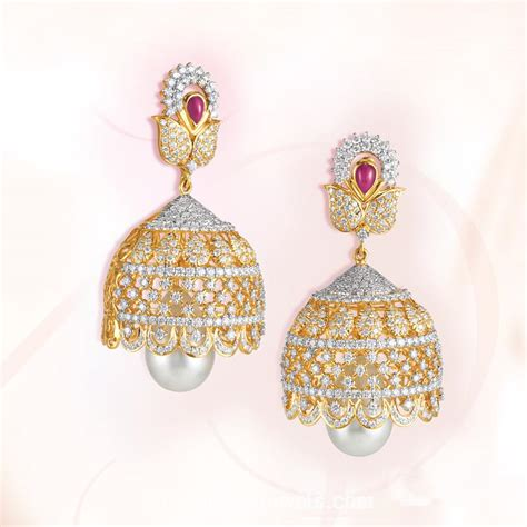 jhumka model from grt jewellers south india jewels