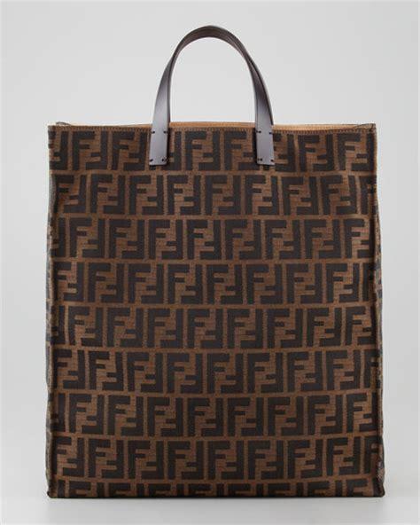 Fendi Shopper fendi zucca always shopper tote bag tobacco brown