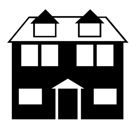 silhouette house silhouette clipart