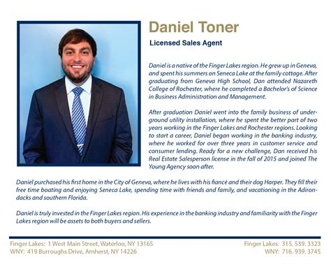 daniel j toner licensed sales agent largest real