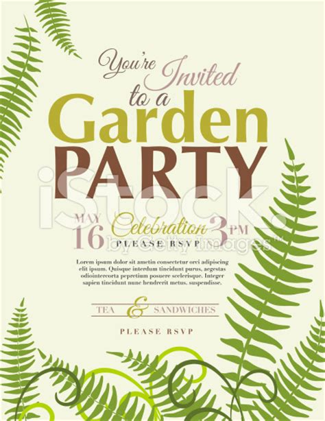 garden invitation template ferns garden invitation template royalty free stock
