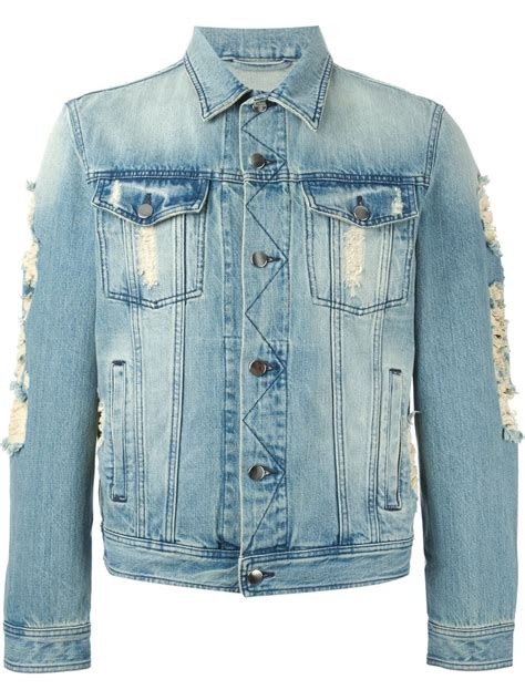 Denim Jackets For by Ami Distressed Denim Jacket In Blue For Lyst