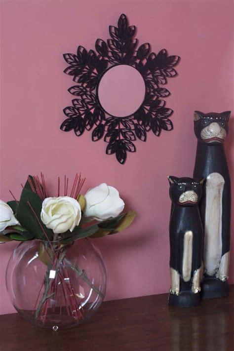decorar un espejo con papel marco de espejo con tubos de cart 243 n por cuatro cuartos