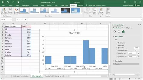 how to create a table in excel 2016 creating histogram charts in excel 2016