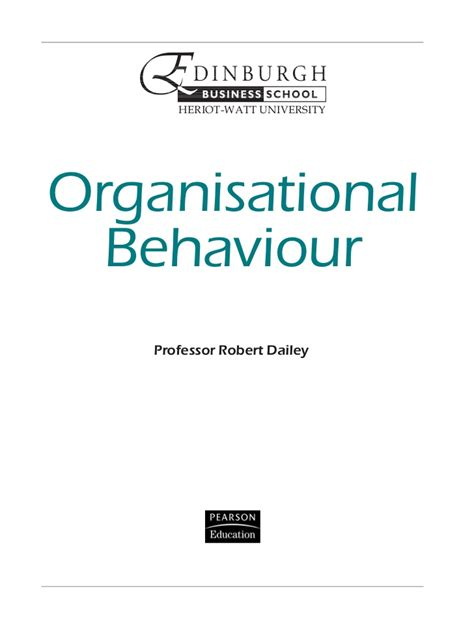 Organizational Behaviour Book For Mba by 72520239 Organisational Behaviour Mba Text
