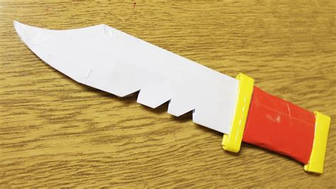 how to make a paper knife