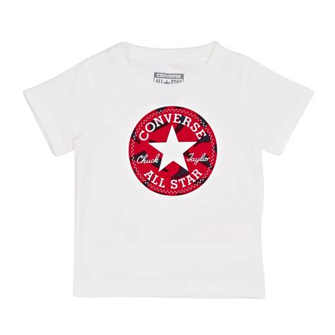 converse baby chuck patch t shirt converse white
