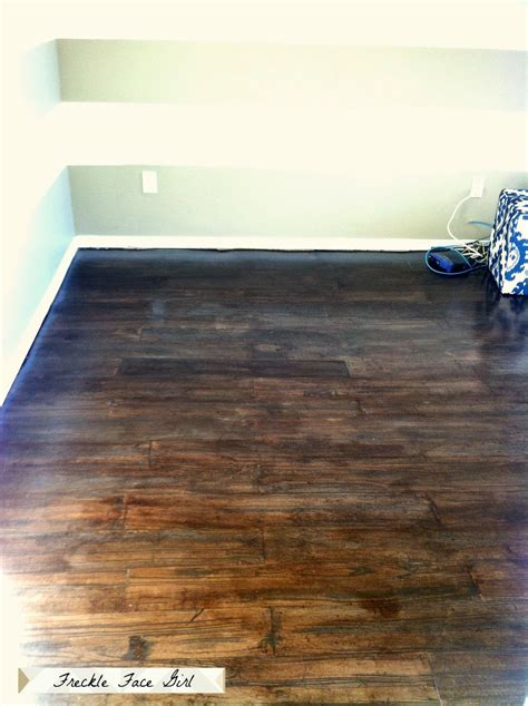 Brown Floor L Remodelaholic Faux Wood Plank Floors Using Brown Paper