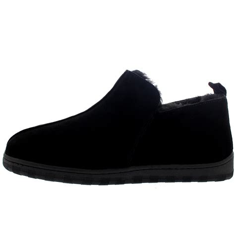 mens fur lined slipper boots mens australian sheepskin genuine fur lined boot rubber