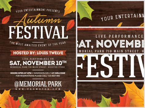 autumn festival flyer template flyerheroes