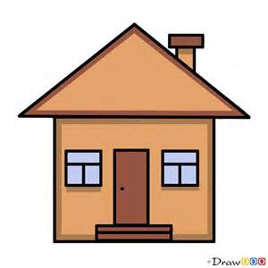 simple house drawing how to draw a house for kids step by step drawing