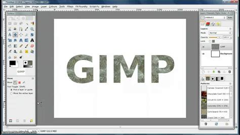 video tutorial on gimp gimp tutorial how to make custom patterns youtube