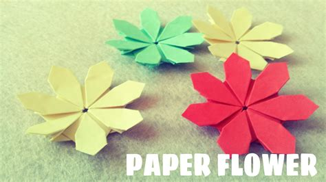 Easy Paper Folding Flowers - paper flower tutorial origami easy