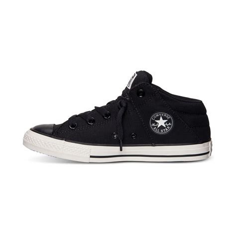 Sepatu Converse Black White Sneakers Casual converse boys chuck axel mid casual sneakers from finish line in black for lyst