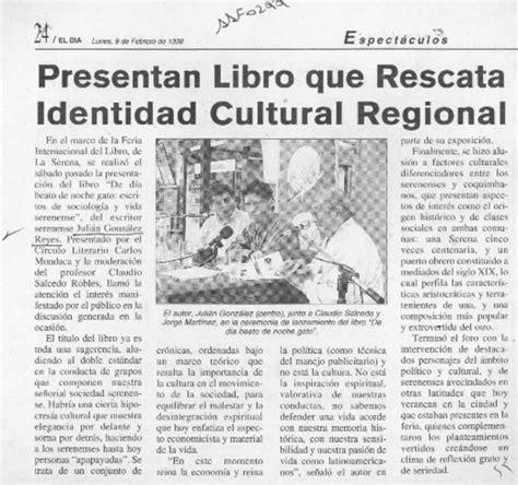 libro la identidad cultural no presentan libro que rescata identidad cultural regional art 237 culo biblioteca nacional