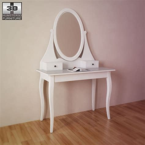 ikea white hemnes dressing table ikea hemnes dressing table with mirror 3d model by