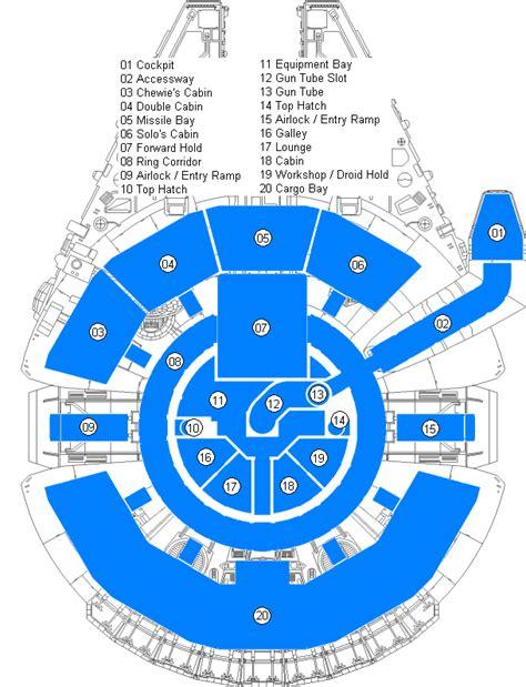millennium falcon floor plan the millenium falcon