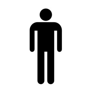 bathroom sign person male bathroom bw w o boarder clip art at clker com