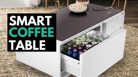 mini fridge coffee table sobro the smart coffee table with a built in fridge and