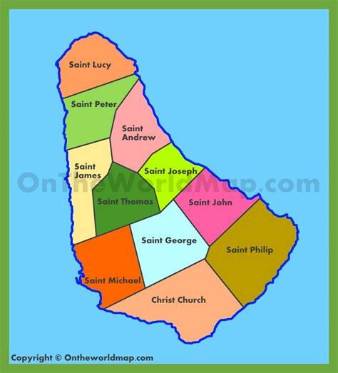 printable barbados road map administrative map of barbados