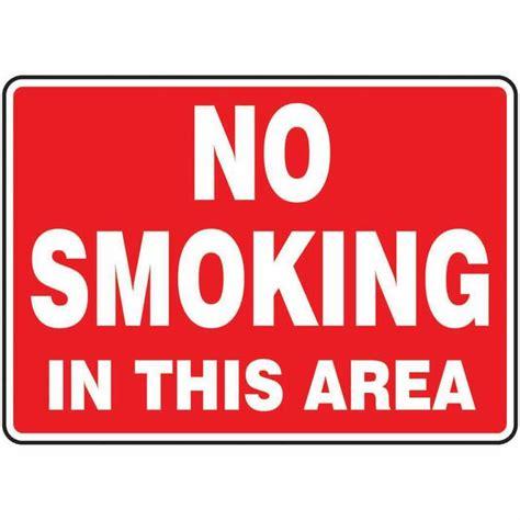 no smoking in this area sign nhe 25185 smoking area safety sign no smoking in this area 7 x 10 plastic from
