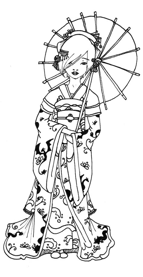 1000 Images About Asian Images On Pinterest Geishas Geisha Coloring Pages