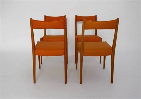 Modern Orange Dining Chairs Orange Mid Century Modern Dining Chair By Luelja Praun Vienna 1953 For Sale At 1stdibs