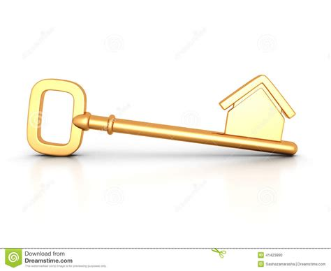 house and key real estate golden home key with house silhouette stock illustration