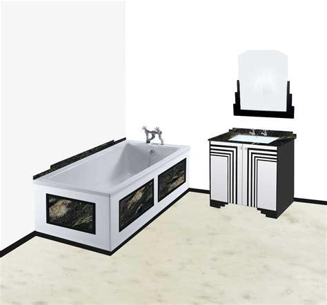 Deco Bathroom Vanity Unit by New Deco Skyscraper Style Bathroom Vanity Unit