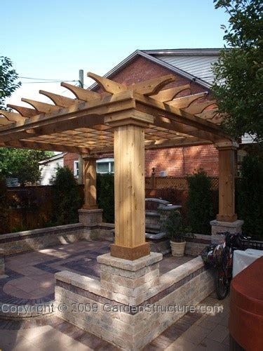 Pergola With Walls by Pergola Stone Walls With Wood Design Pinterest