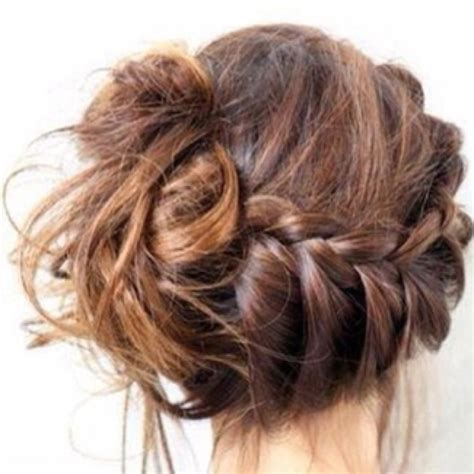 cute braided hairstyles going into a bun for black people really cute messy braided bun hairstyles pinterest