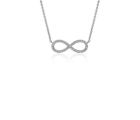 mini infinity necklace in 14k white gold blue nile