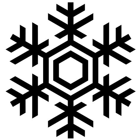 Snowflake Clipart Black And White Png   ClipartXtras