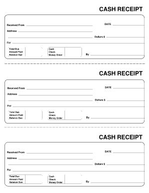free cash receipt forms fillable forms for office etc