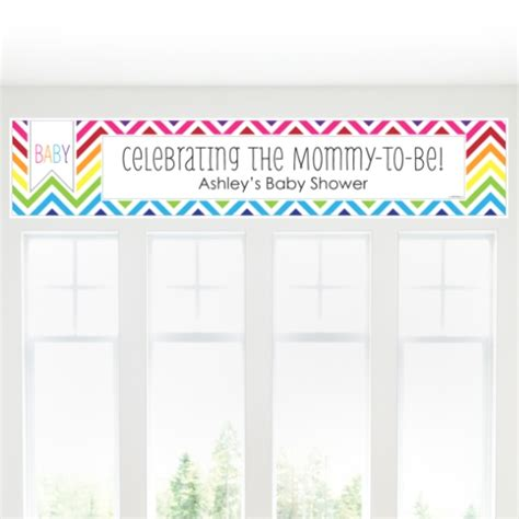 Personalized Baby Shower Banners by Image Chevron Baby Shower Banner