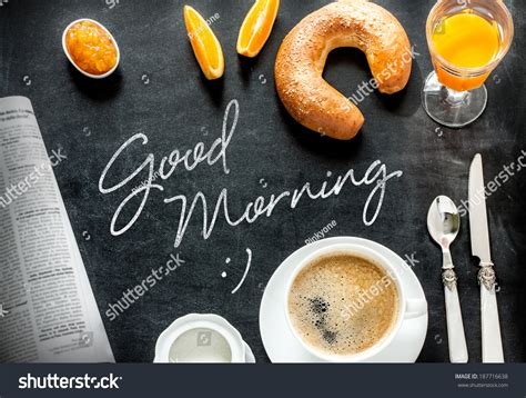 cover layout of continental breakfast good morning poster design with continental breakfast on