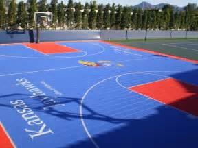 Basketball Court In Backyard Cost Backyard Basketball Sport Court Central Quecasita