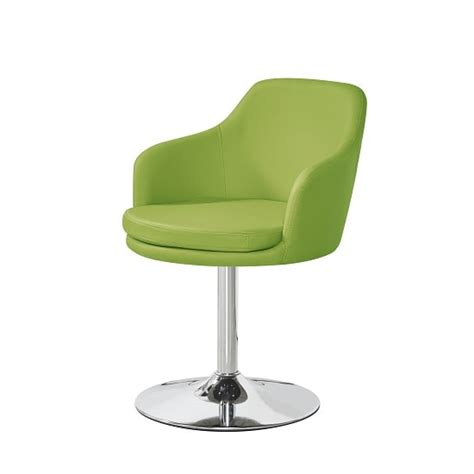 Lime Green Bistro Table And Chairs Bucketeer Bistro Chair In Lime Green Faux Leather With