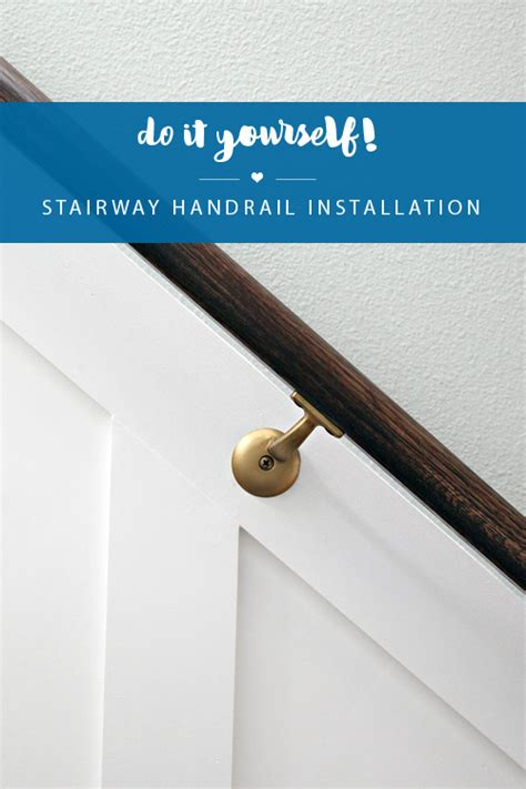 stair banister installation iheart organizing do it yourself stairway handrail installation