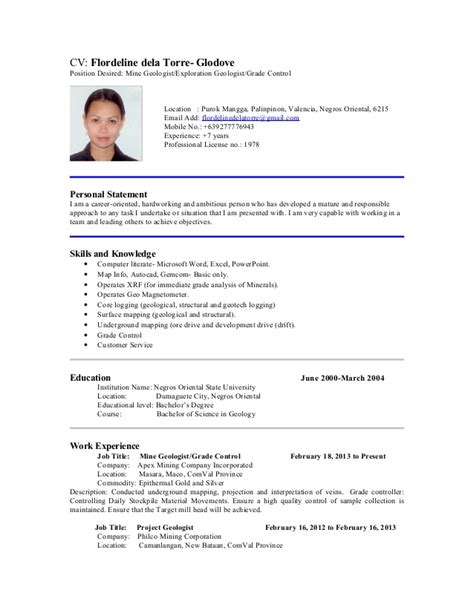 sle resume with position desired gallery creawizard
