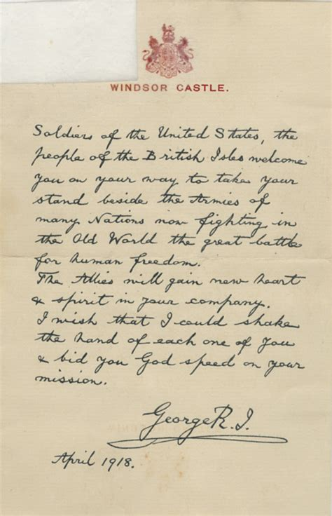 up letter to king george exle letter to byron hilliard from king george v of