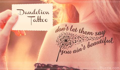 9 dainty and beautiful dandelion tattoo designs to choose from