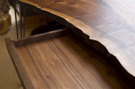 live edge desk with drawers live edge desk with hairpin legs the joinery portland
