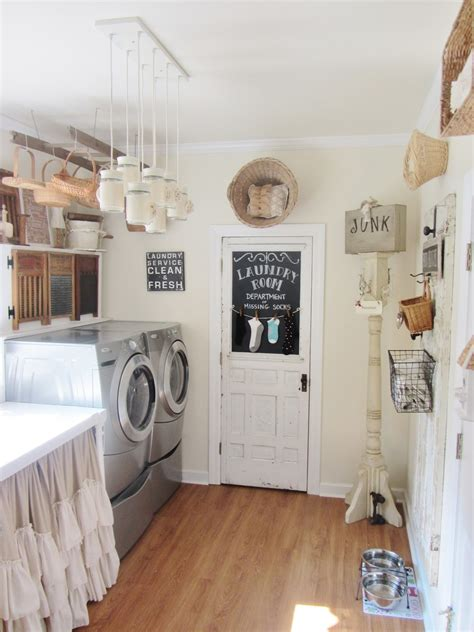 Decorating Laundry Rooms Junk Chic Cottage Laundry Room