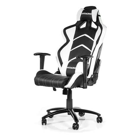 ak racing player gaming chair black white ak